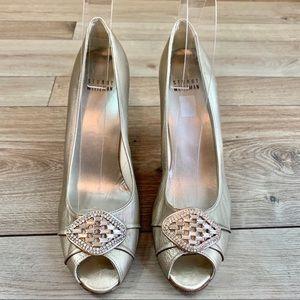 Stuart Weitzman | Silver Jeweled Heels | 7.5
